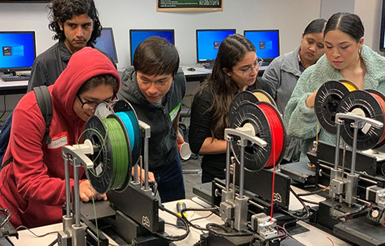 Students in 3D Printing Workshop
